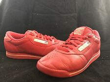 REEBOK CLASSIC Red Womens Sneakers Athletic Shoes w/ Gold Letters SIZE 7.5