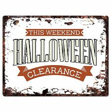 PP1902 HALLOWEEN CLEARANCE Plate Chic Sign Home Store Halloween Decor Gift