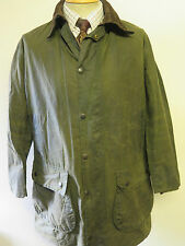 "Barbour Border Waxed jacket - M 40"" Euro 50 or UK 16 in Green"