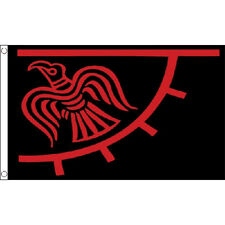 Odinic Raven Flag 4Ft X 3Ft Norway Viking Nordic Banner With 2 Eyelets New