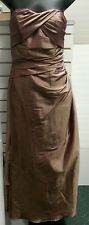 IMPRESSION BRIDAL DRESS sz 8  lt chochlate bronz shimmer Pageant bridesmaid