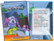 Personalised children's story book. TOO MANY MONSTERS  Kids, Gift Idea, Birthday