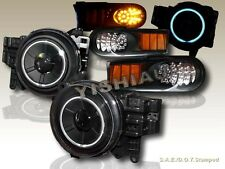 2007-2014 Toyota FJ Cruiser Projector Headlights CCFL Black + LED Corner Lights