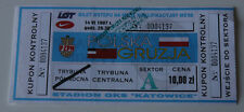 old TICKET * World Cup 1998 q * Poland Georgia in Katowice