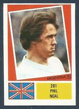 FKS 1978-ARGENTINA 78 -#281-ENGLAND & LIVERPOOL-PHIL NEAL