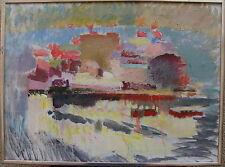 """Birgitta Flink *1914 , """"Im Hafen von Göteborg"""", um 1950/60"""