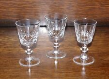 3 Cordial Sherry Liqueur Glasses Cut Cavan Irish Crystal Innisfree Blown Vintage