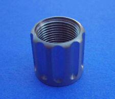 "STAINLESS  HUGHES 5/8"" LONG  Fluted Thread Protector for 1/2""-28tpi barrels"