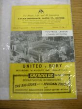 26/08/1967 Oxford United v Bury  . Thanks for viewing this item, buy with confid
