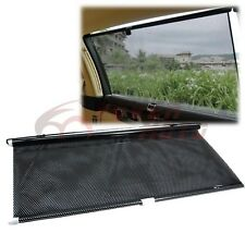 Black Rollable Retractable Block Shade Upholstery Window Sun Visor Windshield FM