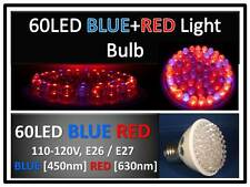 Indoor Plant Red Blue Max Grow 60LED Light Bulb 110V E27 USA Engineer Certified