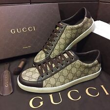 NEW Gucci GG Supreme Low Top Lace Up Sneaker Womens US Size 9