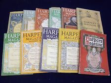 1917 HARPER'S MONTHLY MAGAZINE LOT OF 11 ISSUES - GREAT STORIES & ADS - WR 565