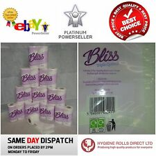 160 x Bliss Quilted Luxury 3ply toilet rolls paper tissue paper