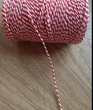 10  Metres Bakers Twine Red and White Brand New - String, Christmas Craft