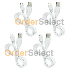 4 White Micro USB Charger Cable for Samsung Galaxy A3 A5 A7 J3 Amp 2 Prime On5