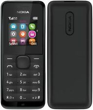 GENUINE NOKIA 105 MOBILE PHONE BLACK FM RADIO UNLOCKED SIM FREE BURNER BNIB