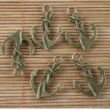 10pcs antiqued bronze color crafted anchor design  charms  G1584