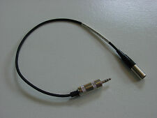 "New custom mini XLR male to male 1/8"" stereo (TRS) 1' microphone adapter cable."