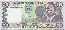 SIERRA LEONE - 50 LEONES - 27 Avril 1989 - BILLET DE BANQUE // Qualité: NEUF