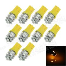 10X Car Ultra Amber 10 LED 1210 SMD T10 W5W Bulb Wedge Side Light Bulb Lamp A026