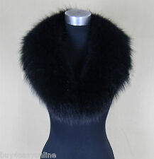 Black Real Raccoon Fur Collar scarf wrap shawl winter neck warmer 31.5inch F02