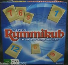 FAMILY PLASTIC TILE CARD GAME RACK SET RUUMY GAME RUMMIKUB TWO TO FOUR PLAYERS