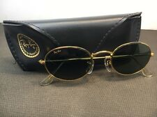 B&L RAY BAN W0976 NWAS G15 GOLD PL WIRE OVAL AVIATOR SUNGLASSES WITH CASE. 129