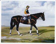 Forego photo from oil painting  Horse Racing