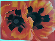 "Georgia O'Keefe   "" Oriental Poppies  "" Art card new  1928   botanical"