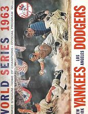 1963 World Series Program Yankees-Dodgers Game 1 Koufax Beats Ford NICE!!