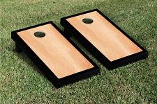 Black Hardcourt Border Cornhole Boards Game Set