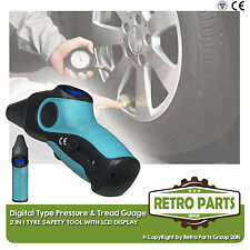 Classic Mercedes Digital Tyre Pressure and Depth Guage 2 in 1 Safety Tool