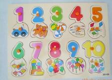 Enfants enfants maternelle bois early learning educational chiffres puzzle jouet 1+