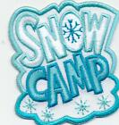 Girl Boy Cub SNOW CAMP Fun Patches Crests Badges SCOUTS GUIDE Camping Out Winter