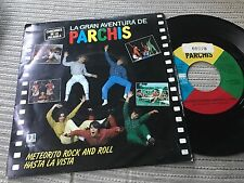 "PARCHIS - METEORITO ROCK AND ROLL 7"" SINGLE BELTER 83 LA GRAN AVENTURA PELICULA"