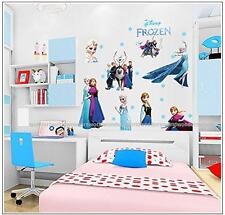 Frozen Disney Queen Elsa Olaf Wall Stickers decal childrens nursery Decor Large
