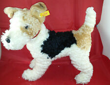 STEIFF FOXY FOX TERRIER DOG EAN 031717 MOHAIR EXCELLENT 14""