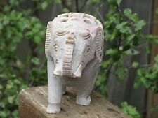 Large Soapstone Crystal Elephant - Hand crafted Statue