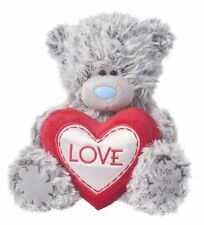 "Douglas Cuddle Toys 6"" Plush Valentines TATTY TEDDY With LOVE Heart ~NEW~"