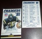 San Diego Chargers Marion Butts 1991 Pocket Schedule Card Jack Murphy Stadium 35