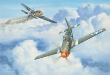 """A Shot of Old Crow"" Roy Grinnell Print Signed by P-51 Ace 'Bud' Anderson"