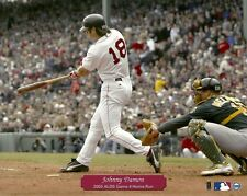 JOHNNY DAMON 8x10 Action Photo BOSTON RED SOX @ Fenway Park 2003 ALDS vs Oakland