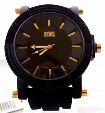 Men's Sports Watch Mark Naimer MN2124 Black Silicone Band Gold Index