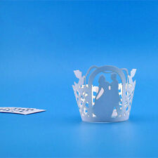 Pearly Lace 50Pcs Paper Wedding Couple Vine Cupcake Wrappers Deco