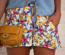 ZARA  FLORAL SUMMER CASUAL SHORTS  SIZE S SMALL