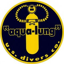 Aqua Lung US Divers decal sticker Aufkleber diver scuba tank diving Tauchen New