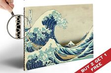 Great Wave of Kanagawa A4 POSTER CARDBOARD BACKED Vintage Japanese Art * Hokusai