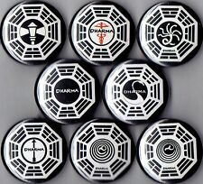 Lost Dharma Initiative 8 pins buttons badges logo tv show