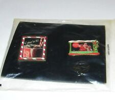 (2) Coca Cola Coke Willabee & Ward Pin Set Thanks For The Pause Santa/Coke Is It